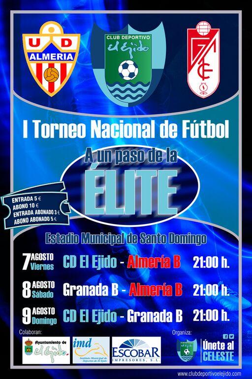 """El Ejido 2012, Almería B y Granada B  afrontan el I Torneo Nacional """"A un paso de la  élite"""""""