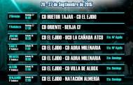 Horarios fin de semana 26-27 de Septiembre