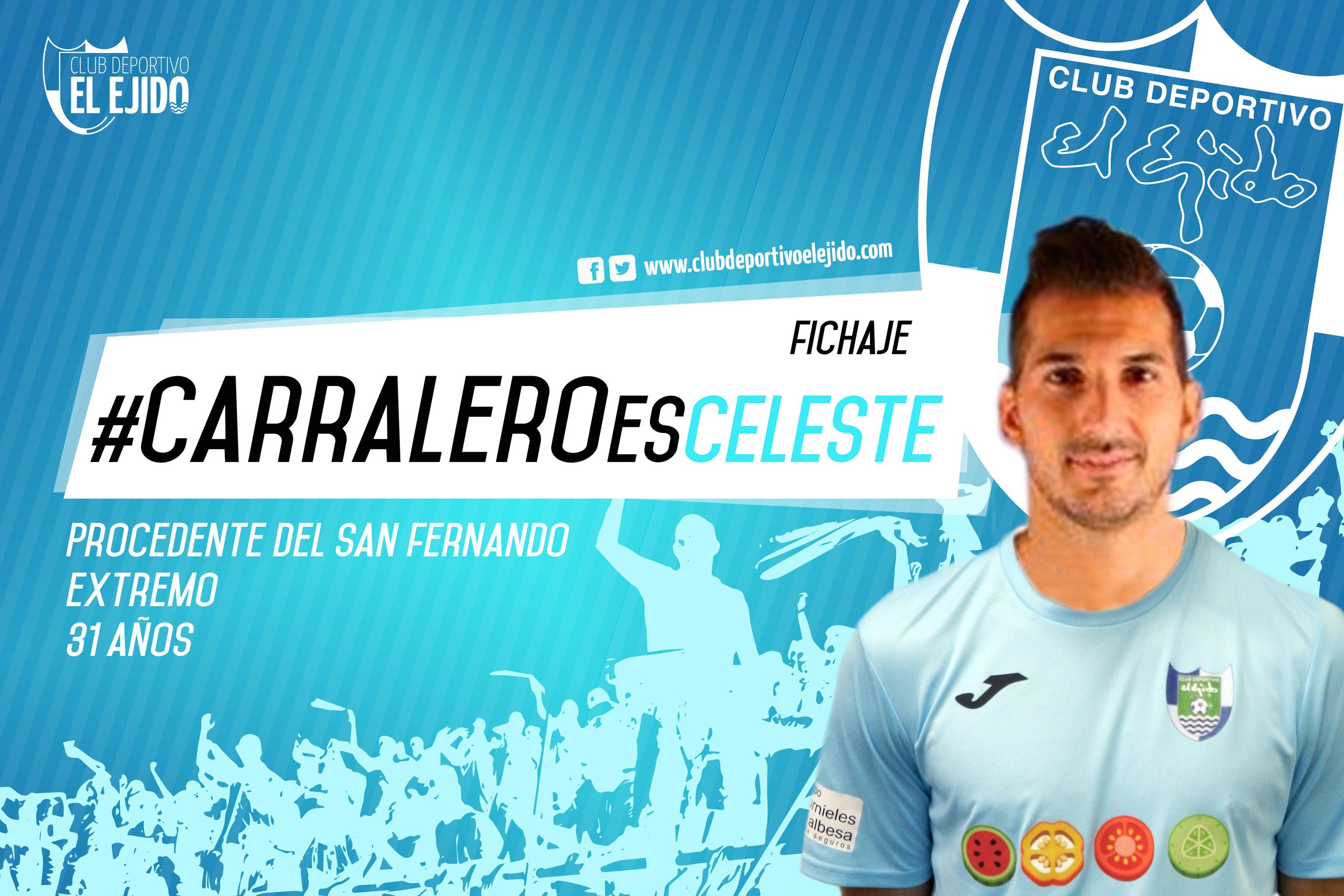 Carralero se convierte en nuevo jugador del CD El Ejido