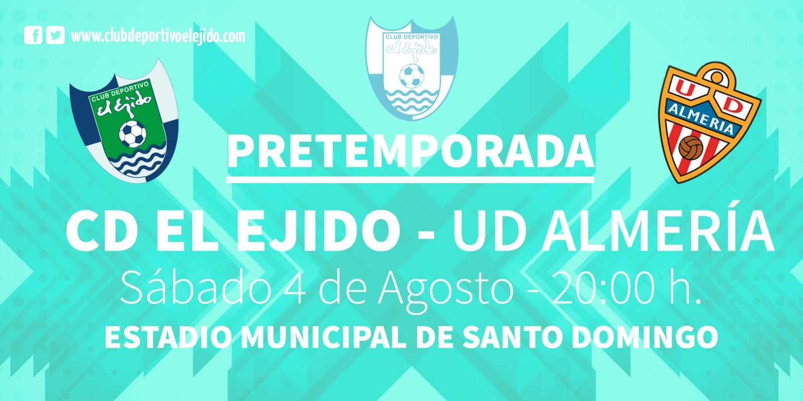 La UD Almería se medirá al CD El Ejido en Santo Domingo