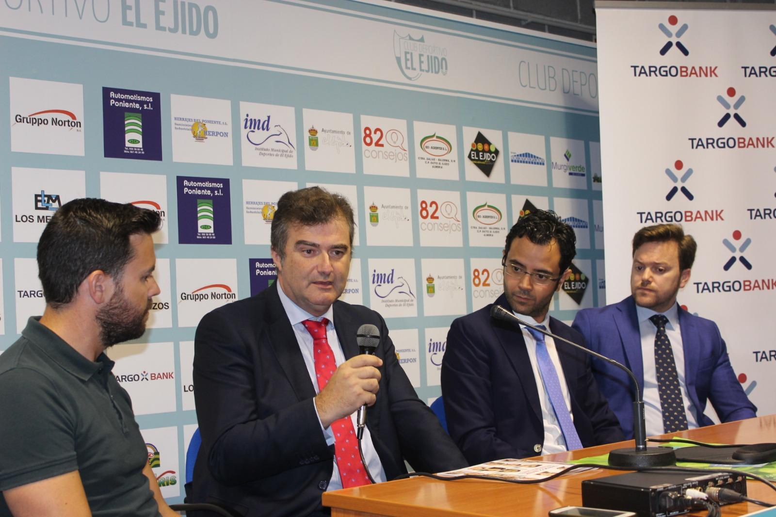 Targobank se convierte en patrocinador del CD El Ejido para la próxima temporada
