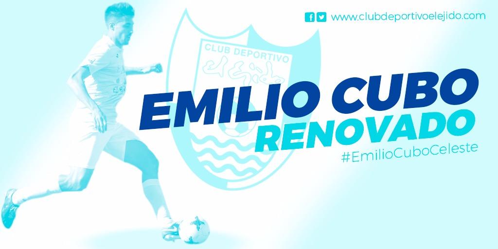 Emilio Cubo será celeste hasta 2020