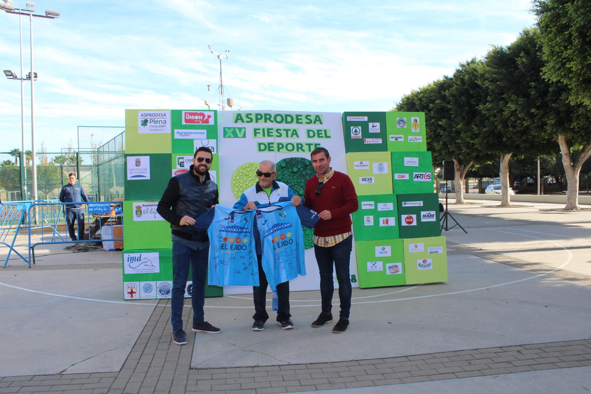 El CD El Ejido, con la Fiesta del Deporte de Asprodesa