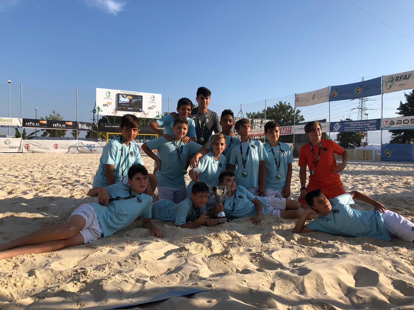 El Alevín del CD El Ejido, campeón de Andalucía de Fútbol Playa