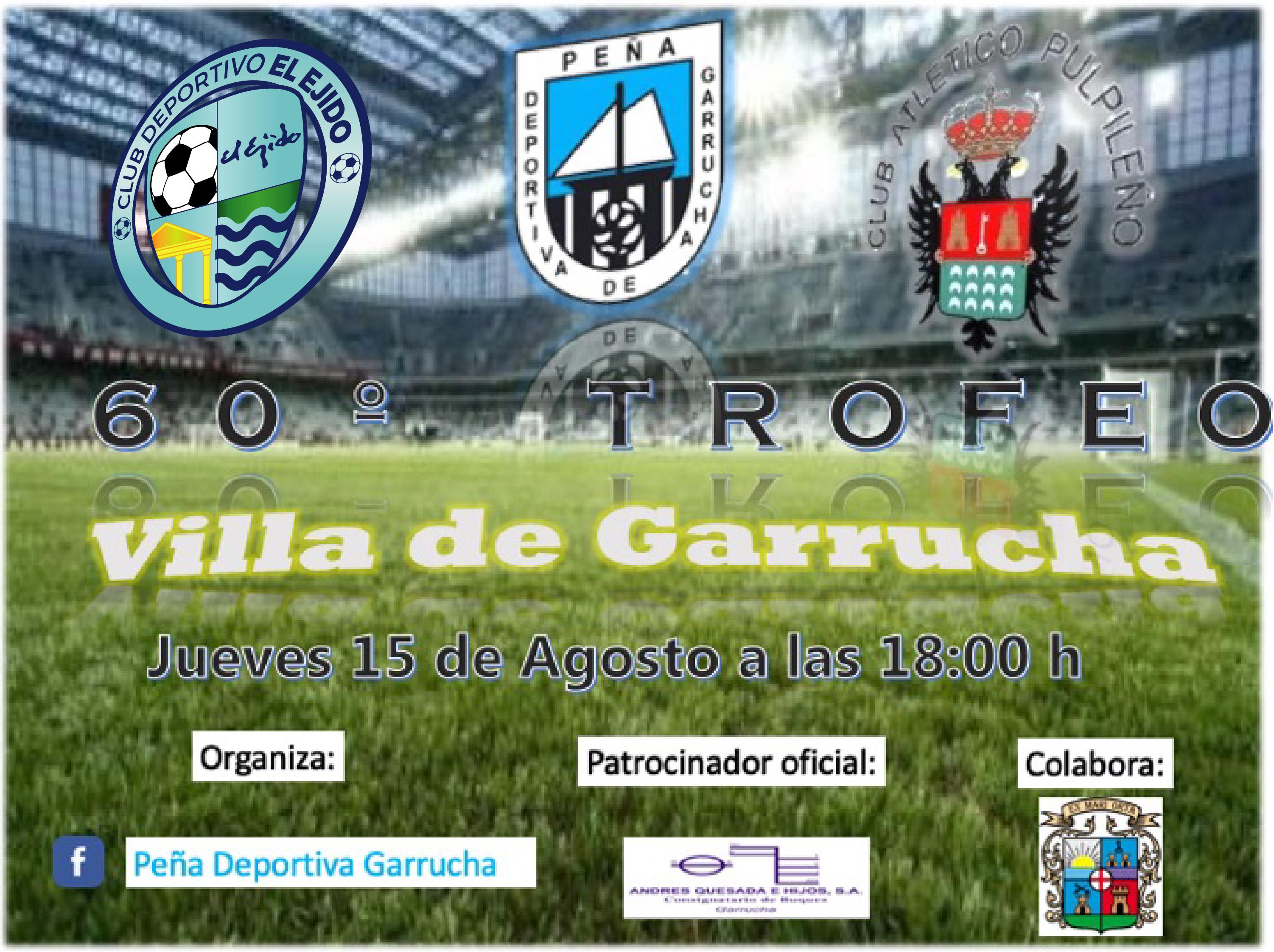 El CD El Ejido jugará el Trofeo Villa de Garrucha