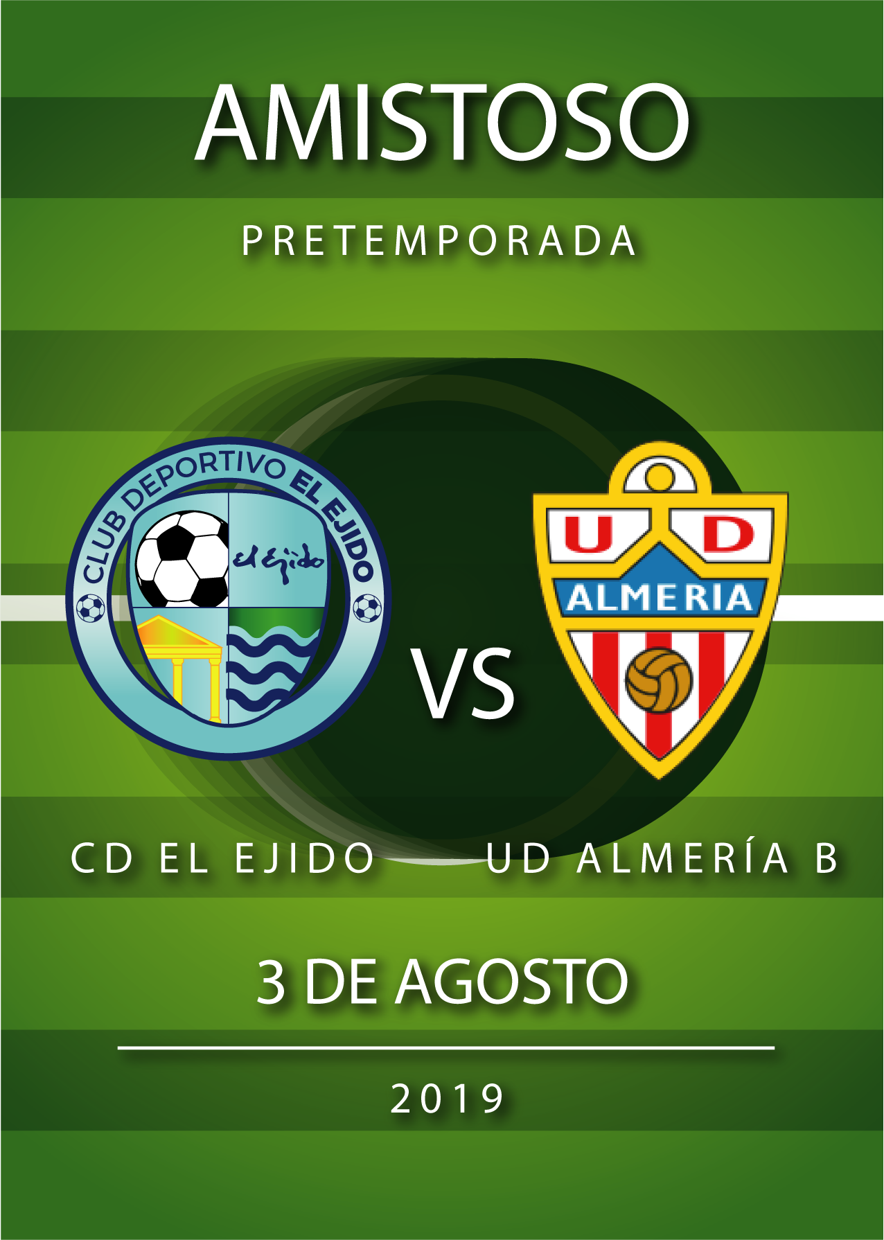 El CD El Ejido jugará un amistoso el 3 de agosto contra el Almería B
