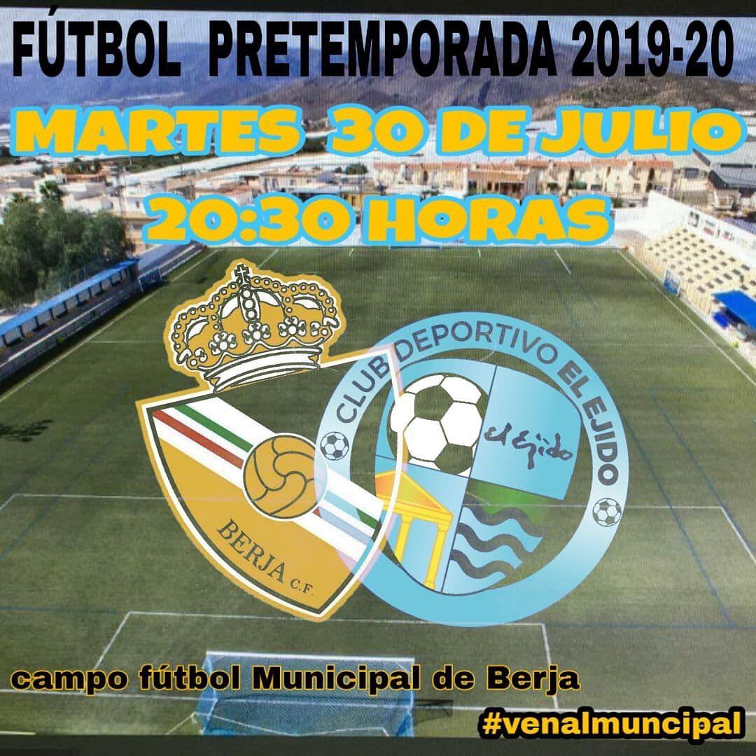El Municipal de Berja acogerá un amistoso entre el CD El Ejido y el Berja CF
