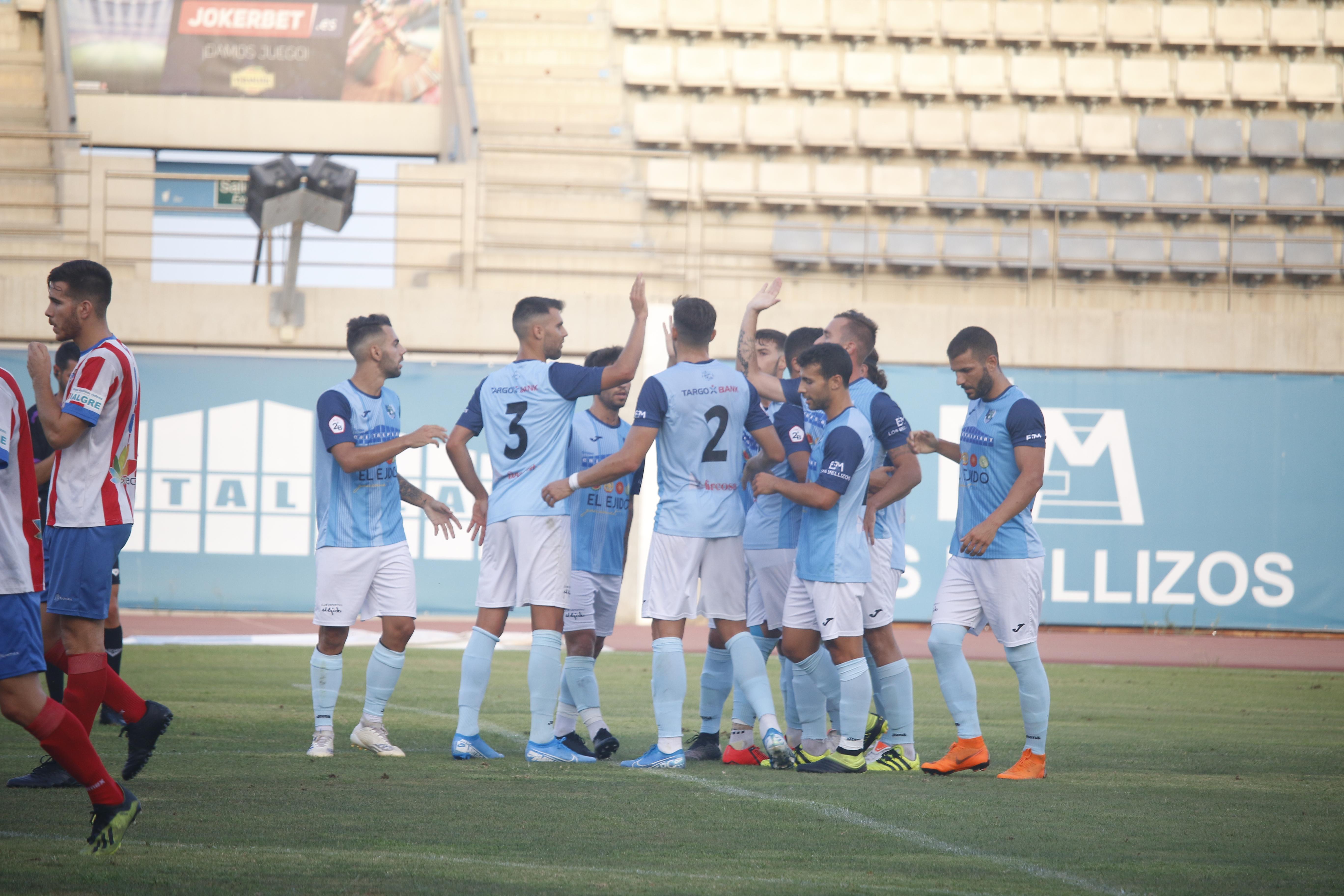 Primer triunfo de la pretemporada en el estadio municipal de Santo Domingo frente al Poli Almería tras una intensa segunda parte