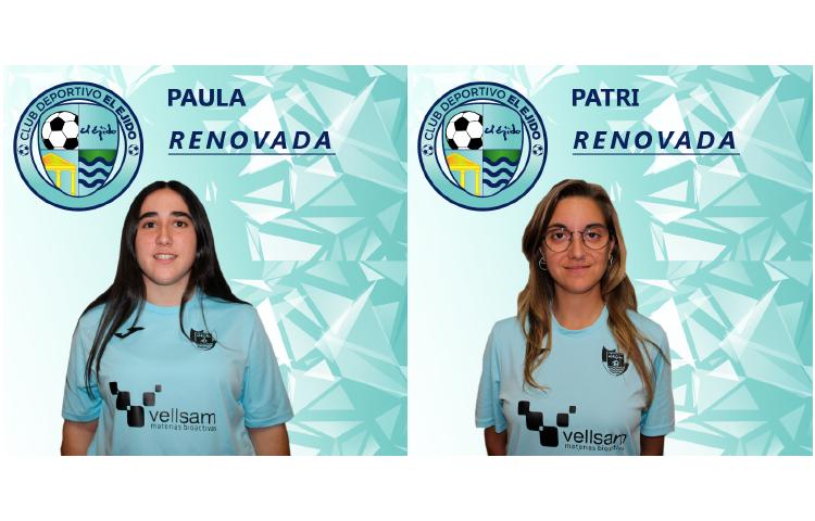 Paula y Patri volverán a vestir de celeste esta próxima temporada