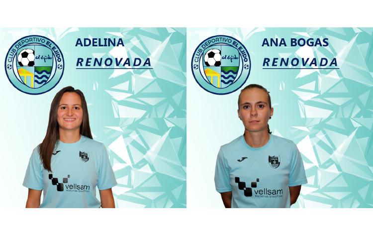 Ana Bogas y Adelina firman una temporada más con el CD El Ejido