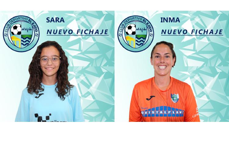 Sara El Jabari e Inma Espinosa, nuevas jugadoras del CD El Ejido Femenino