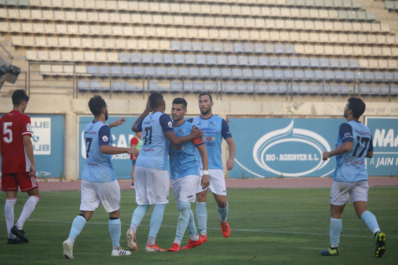 El vestuario del CD El Ejido sólo reconoce la victoria frente al Atlético Porcuna