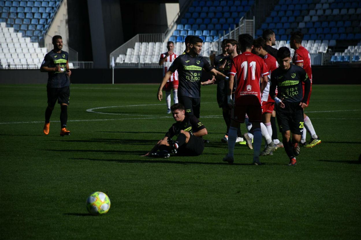El CD El Ejido pierde su segundo partido de liga frente al Almería B sin merecerlo