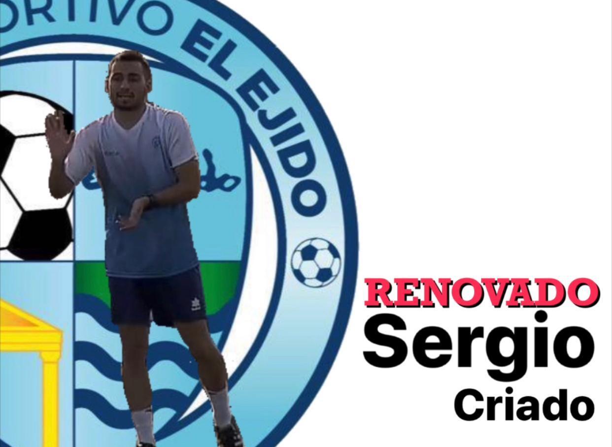 Sergio Criado continuará como técnico de la Cantera del CD El Ejido