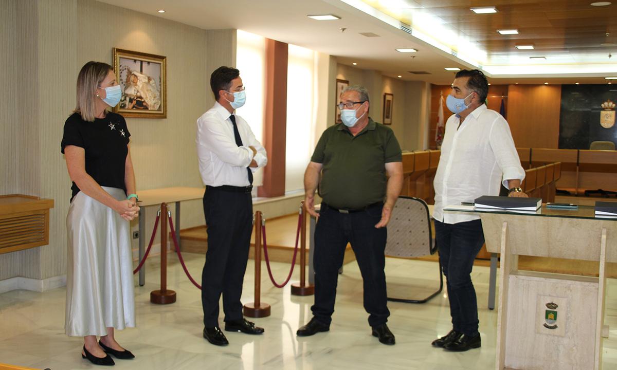 El CD El Ejido acude a la recepción oficial en el Ayuntamiento