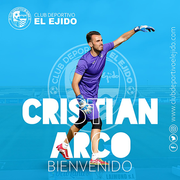 El meta Christian Arco vuelve al CD El Ejido