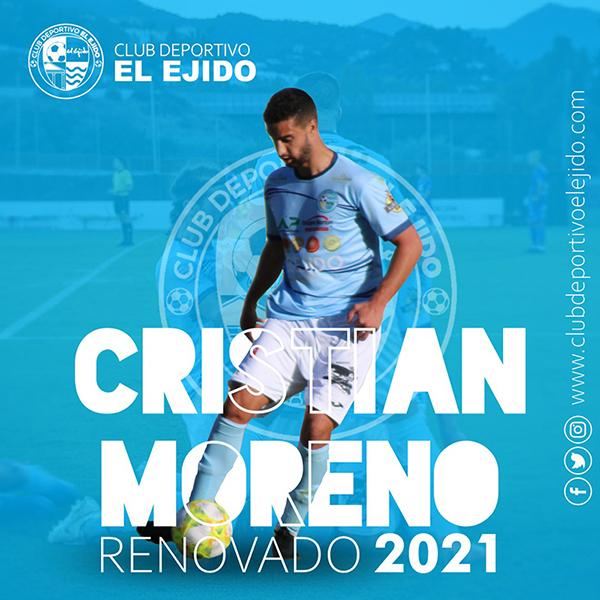 La zaga celeste volverá a contar con Cristian Moreno