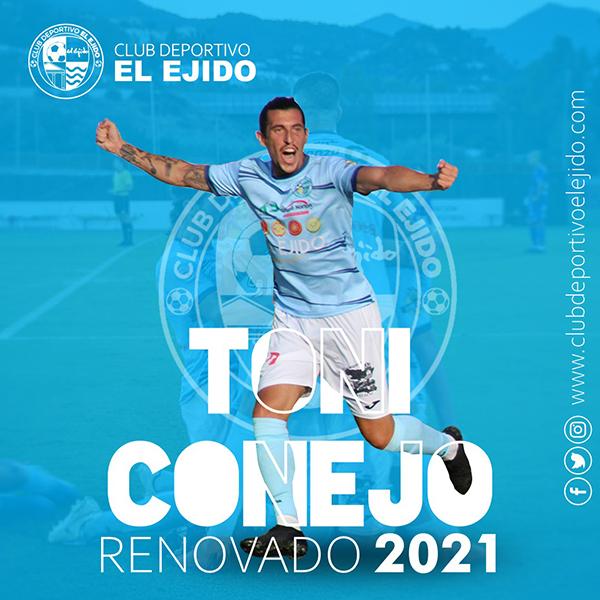 Toni Conejo renueva con el CD El Ejido