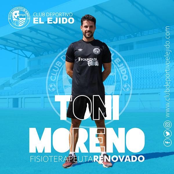 Toni Moreno, las manos que recuperan al CD El Ejido