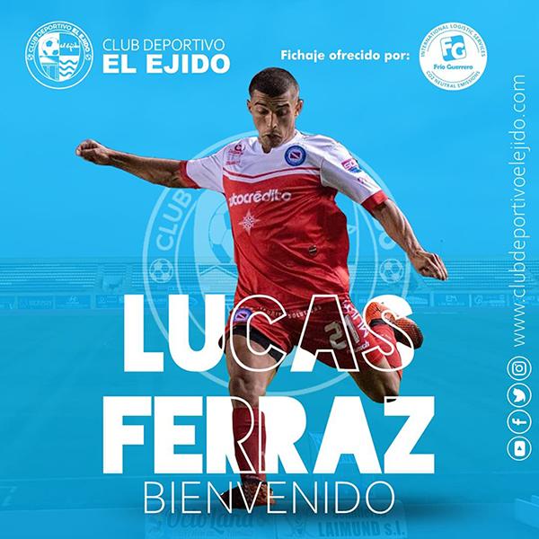 CD El Ejido y Argentinos Junior acuerdan la cesión del mediapunta Lucas Ferraz