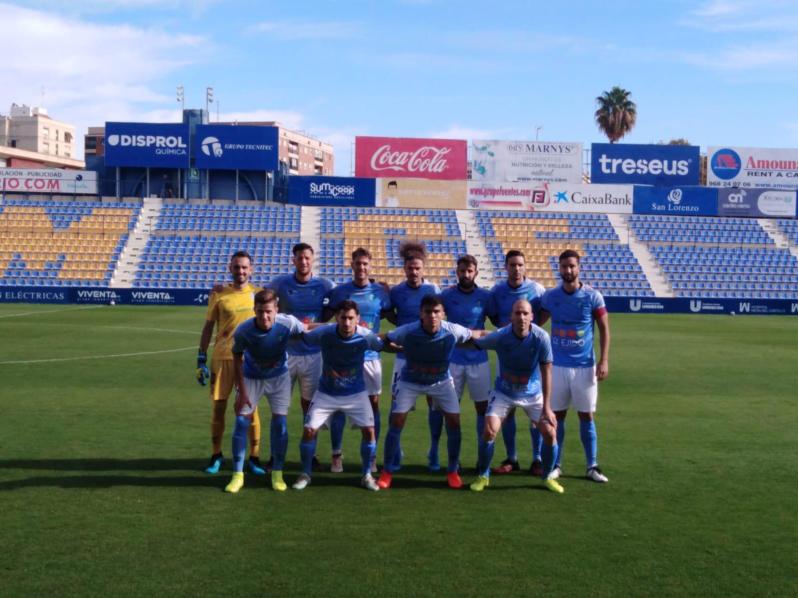 El CD El Ejido pierde de forma inmerecida ante el UCAM Murcia