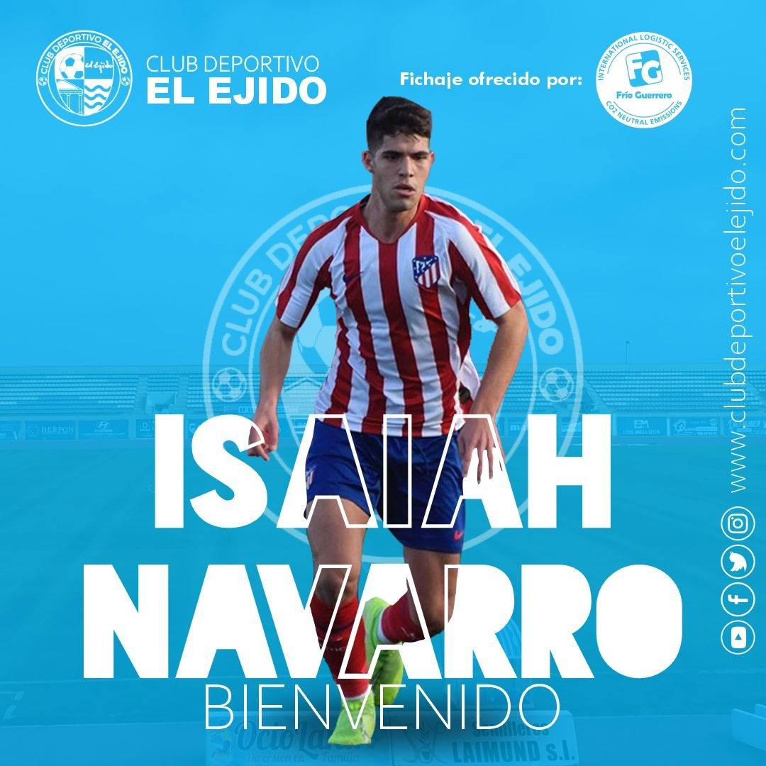 El CD El Ejido incorpora al joven mediocentro Isaiah