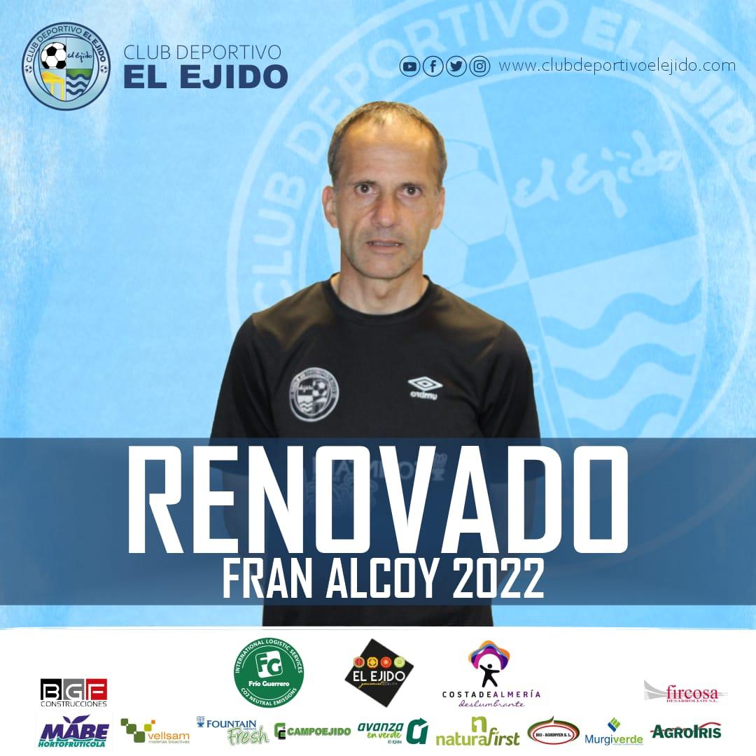 Fran Alcoy continuará al frente del CD El Ejido