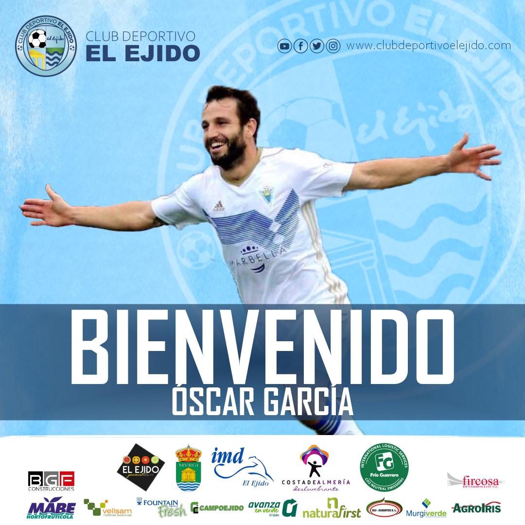 El delantero Óscar García se hace celeste