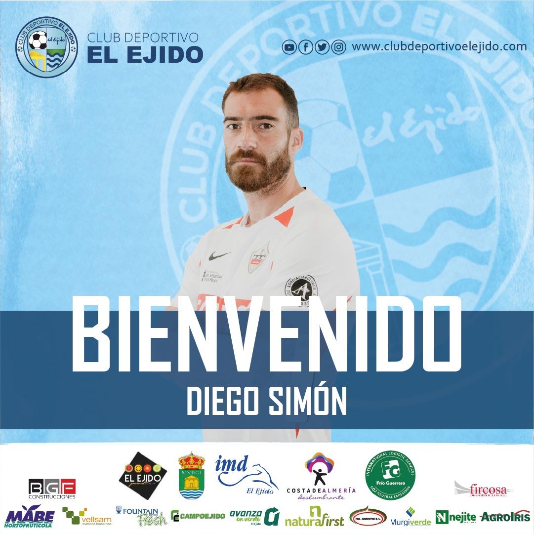 El central zurdo Diego Simón aterriza en El Ejido