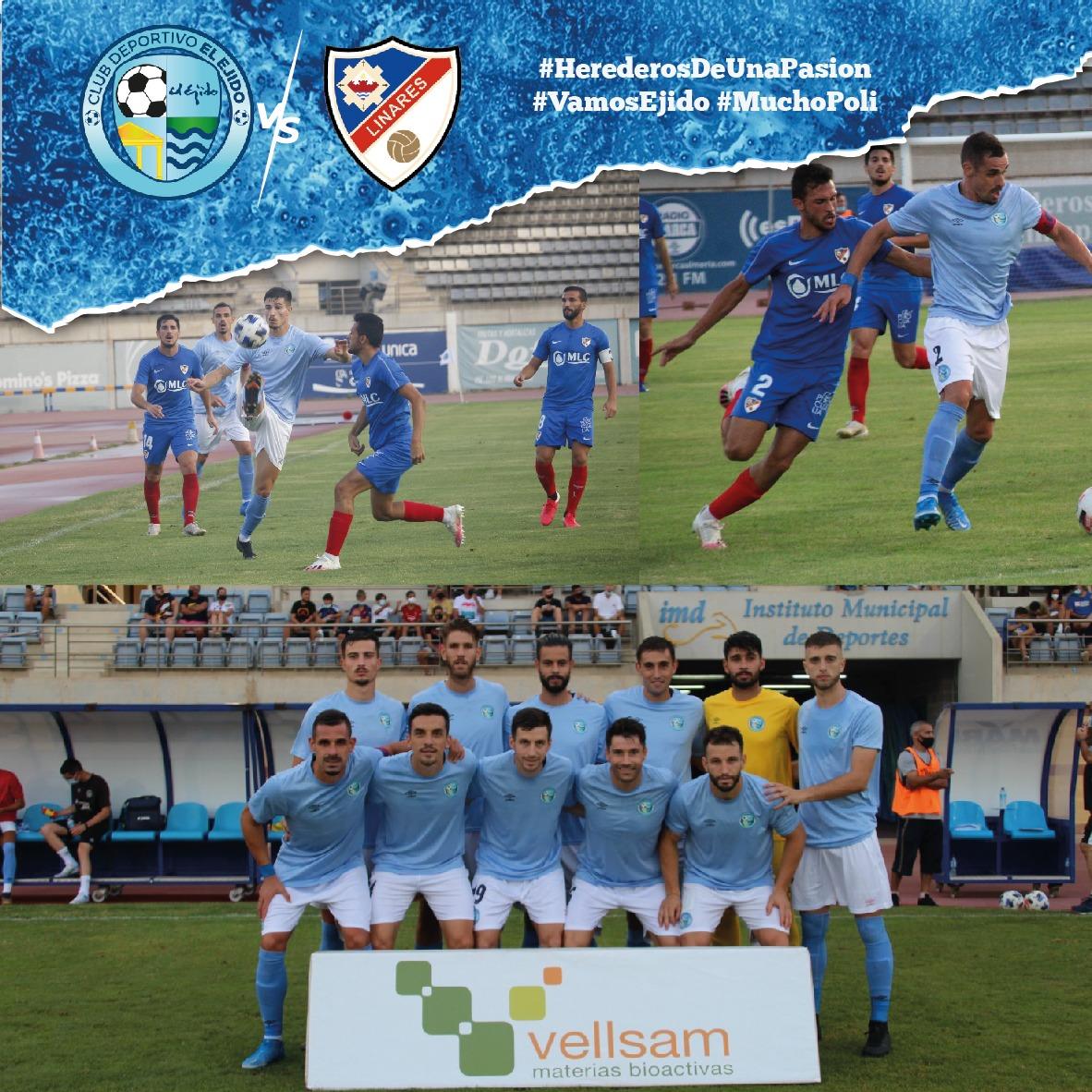 El CD El Ejido pierde frente al Linares Deportivo mereciendo mejor resultado