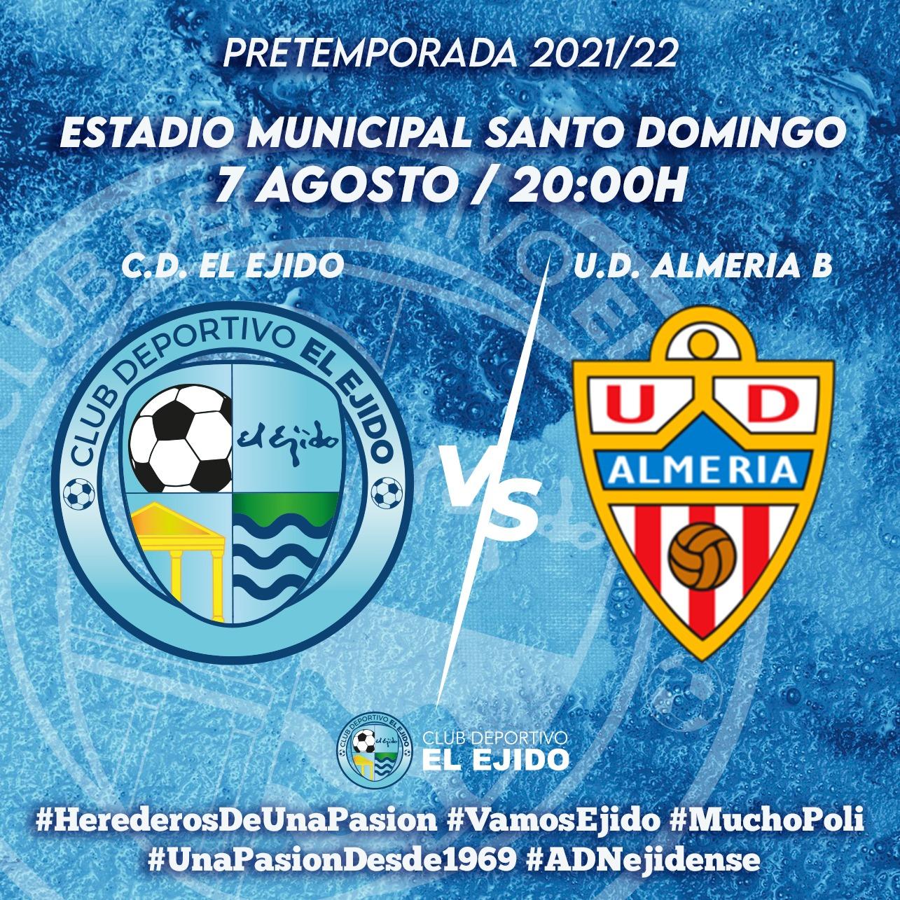 El CD El Ejido recibe este sábado a la UD Almería B en casa