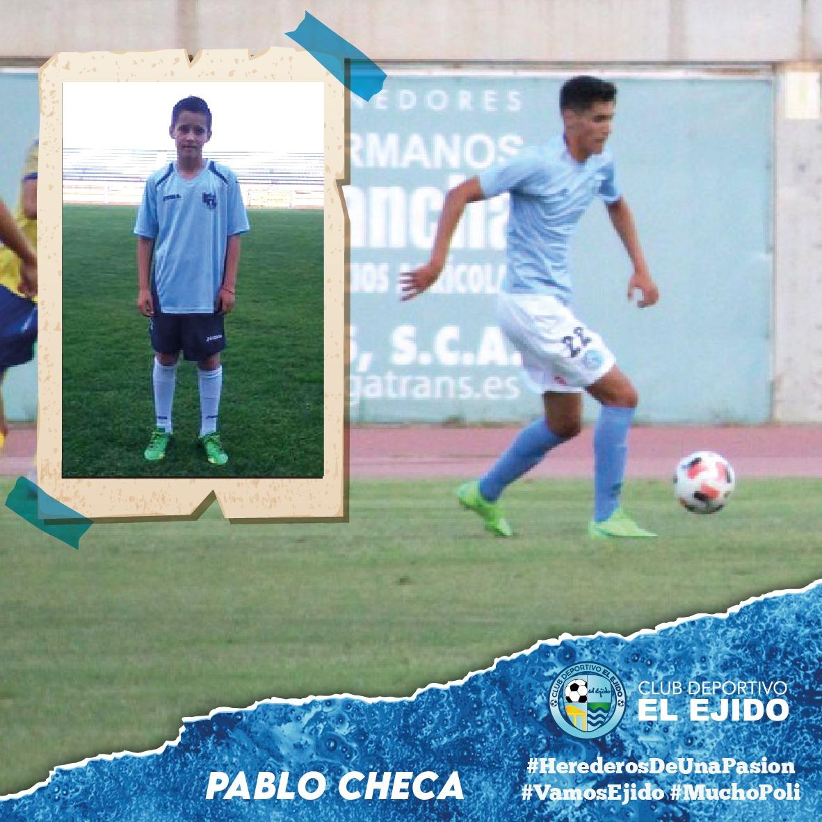 El ejidense Pablo Checa firma su primer contrato profesional y en casa