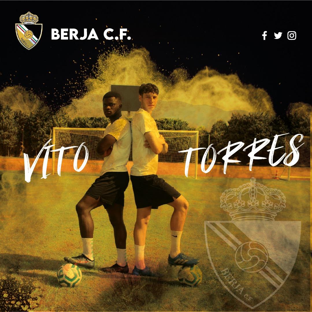 El centro de la zaga del Berja CF toma fuerza con Vito y Luis Torres