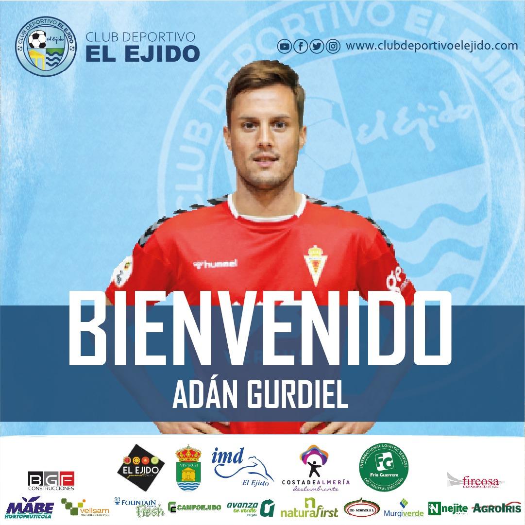 El lateral derecho Adán Gurdiel, refuerzo para el CD El Ejido