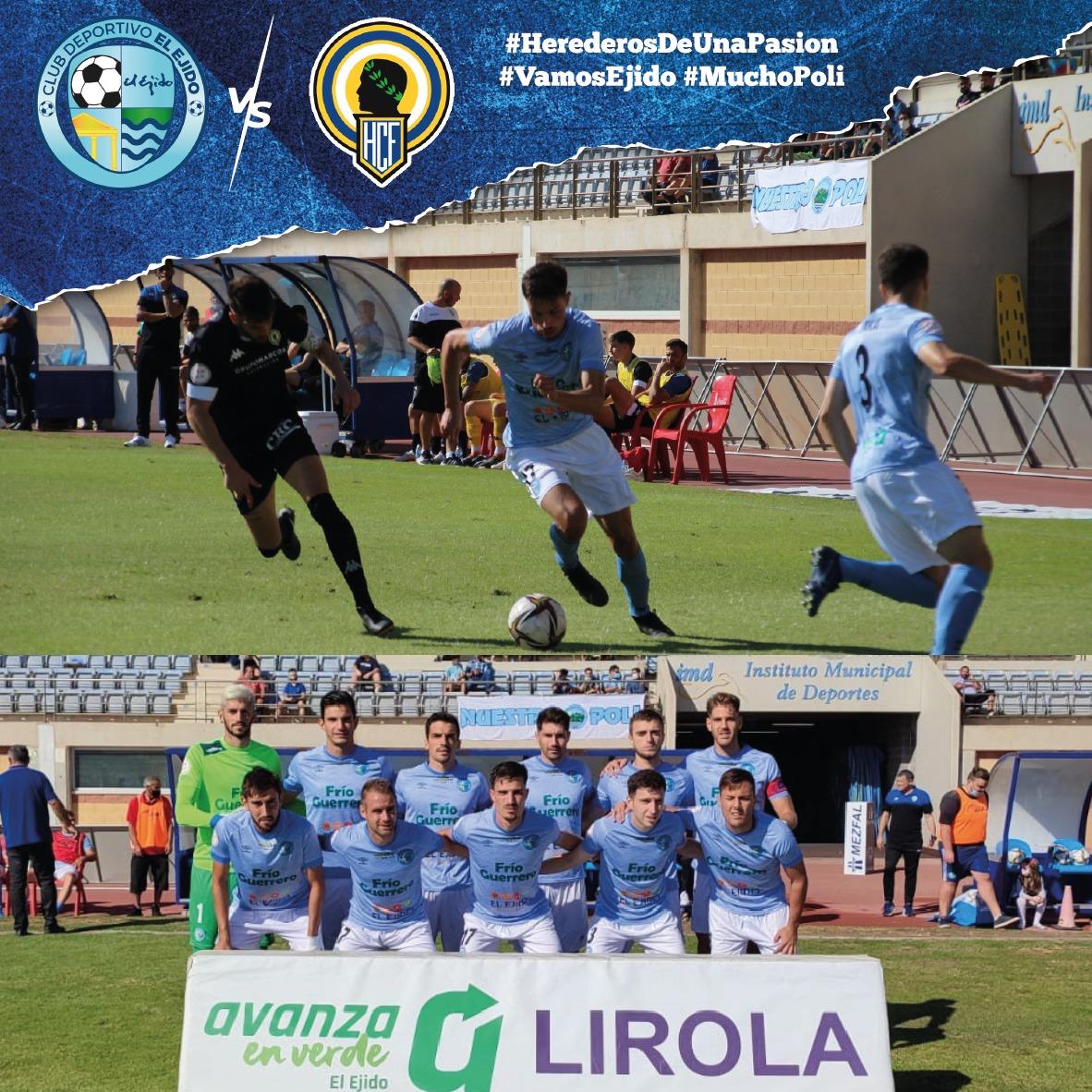 El Club Deportivo El Ejido pierde frente al Hércules un partido que mereció ganar